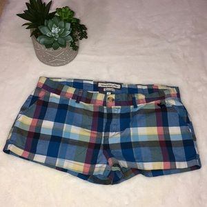 Abercrombie & Fitch Perfect Stretch Plaid Shorts